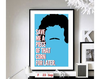 Nacho Libre ('Save Me Some Of That Corn')  Art Print