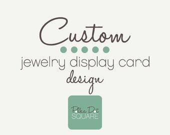 Custom jewelry display card Custom earring card Custom necklace card Custom brooch card Custom design Printable