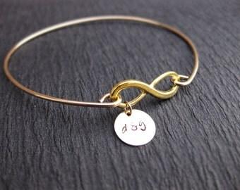 Personalized Girlfriend Gift, Birthday Gift for Her, Boyfriend to Girlfriend Anniversary Gift, Eternity Loop Jewelry, Personalized Infinity