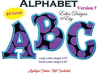 Applique Alphabet Machine Embroidery BX Format Monogram Fonts Applique Machine Embroidery Designs Digital Download