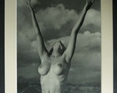 1950s Vintage Erotic Black and White Photography Print by Andre de Dienes Retro erotica art, Antique nude woman, Beautiful Naked Lady Decor