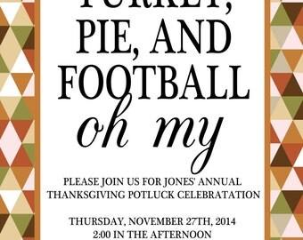 Thanksgiving invitation (digital file)