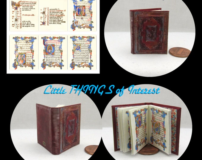 BOOK Of HOURS 1:6 Scale Book READABLE Color Illustrated Book bjd Momoko Barbie Scale