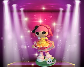 LALALOOPSY CRUMBS Doll - Fofucha 100% Hand Made