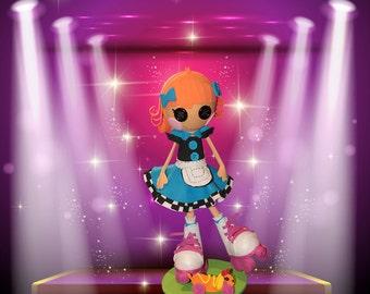 Encurtidos de LALALOOPSY muñeca *** precio especial *** - Loopsy doll - muñeca Fofucha 100% hecho a mano en espuma. lalaloopsy, la muñeca lalaloopsy