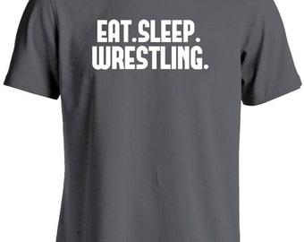 Wrestling T Shirt-Eat Sleep Wrestling Shirt-Wrestling Gift