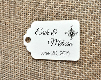 Nautical wedding favour tag, wedding tag, wedding favor tag, custom wedding favor tag, wedding favour tag with names and date, wedding