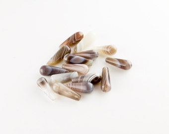 Botswana Agate Tear Drop Beads (16x6mm)