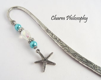 Starfish Bookmark - Tibetan Silver Beaded Bookmark - Teacher Gift Ideas