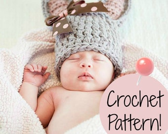 CROCHET PATTERN. Chunky Easter Bunny Crochet Pattern. Newborn Photo Prop. Preemie to Adult Sizes