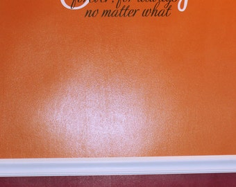 Family - Forever, For Always - No matter what Large - vinyl wall decal - sticker - Any Colors