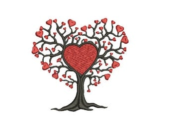 Machine Embroidery Design Instant Download - Love Tree