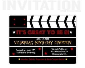 Movie Ticket Invitation | Movie Party Invitation | Movie Invitation | Movie Birthday Party | Movie Party | Movie Birthday | Movie Party |502