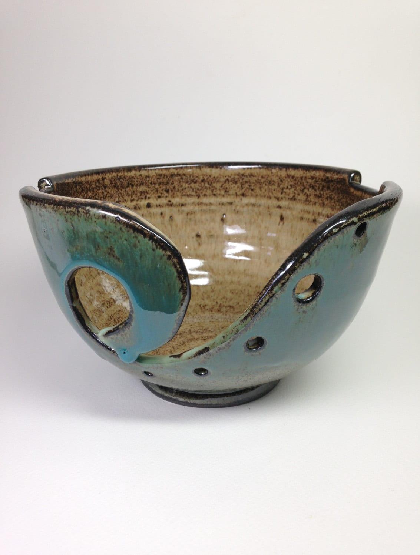 Knitting Yarn Bowl : Knitting bowl ceramic yarn clay crochet by rehnworks