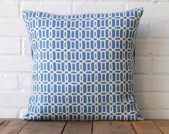 Blue Geometric 18x18 Pillow