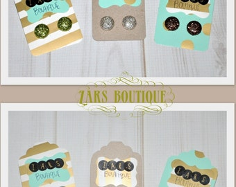 METALLIC glitter EARRINGS,gold,silver,champagne,green,orange,brown set or individual