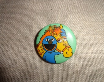 Cookie Monster  Vintage Pinback Button 2 in by 2 inch