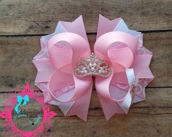 Pink Princess Bow