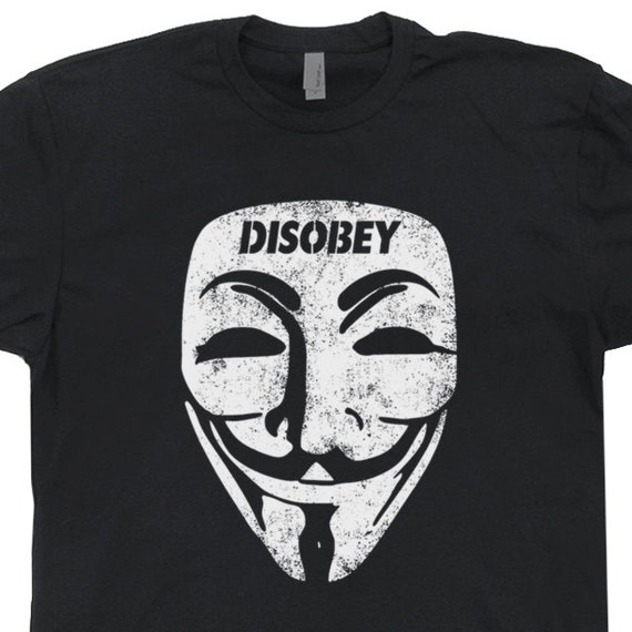 Guy Fawkes Mask T Shirt Disobey V Fo...  ◅ ▻ 🔎拡大