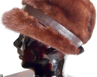 Deep Cocoa Mink Loni Exclusive Hat, c. 1960