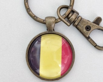 Belgium Flag Key Chain Bag Charm KC133