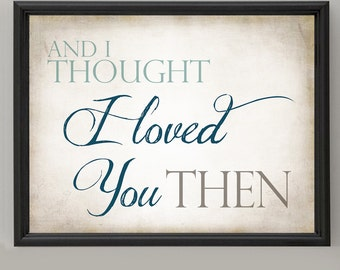 Instant Digital Download - And I Thought I Loved You Then  - Beige, Seafoam, Navy, Brown, Tan