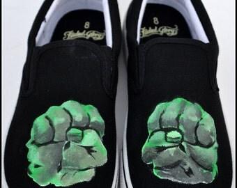 The Hulk Shoes, Mens Shoes-The Hulk, Hulk Sneakers for Men, The Hulk, Mens Hulk Shoes, Painted Mens Shoes, Hulk, Gifts for Men, Hulk Shoes
