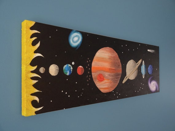 Solar system art space painting kids art outer space art for Outer painting design