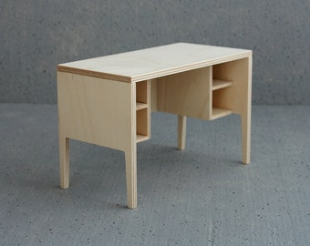 "desk for dolls in 1/6 scale * choose color * furniture for 10-11"" dolls (like momoko blythe barbie) by Minimagine - playscale desk"