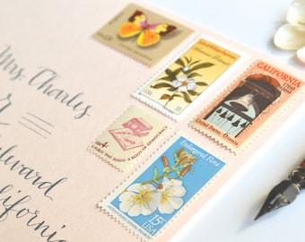 Wedding Stamps Vintage California Wedding Postage Stamps
