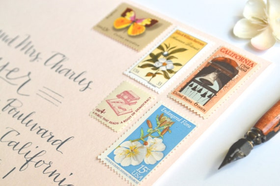 Wedding Stamps Vintage California Postage