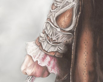 The Hidden Blade. Assassin's Creed Inspired A4 Print. Artwork by Jade Jones
