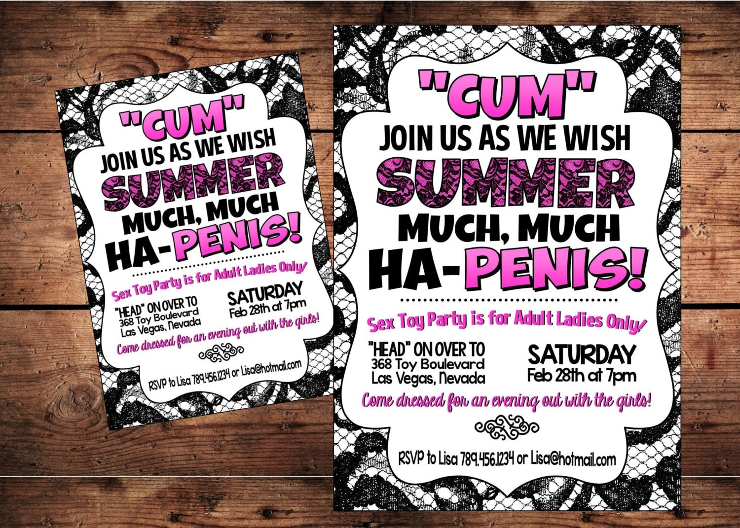 Sex Toy Party Invitations 78