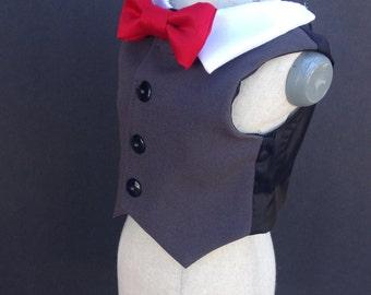 Gray Dog Tuxedo Vest (custom options available)