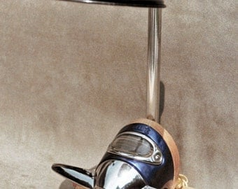 Moto Lamp: 1938-39 Ford Trunk Latch, Vintage Automotive Desk Lamp.  Upcycled and Recycled