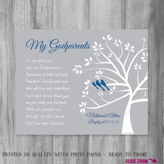 Gift FOR Godparents from Godchild Personalized Godmother Gift Baptism ...