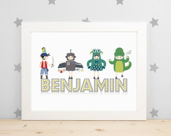 Boys Personalised Wall Art