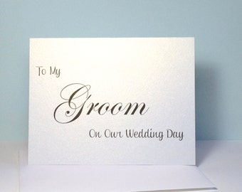 Groom Wedding Card, To My Groom Wedding Card, Bride and Groom Card, Groom Wedding, Card for Groom Wedding Day Card - SHIMMER