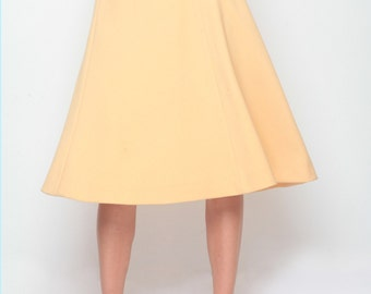 1960's Yellow Flared Long Skirt