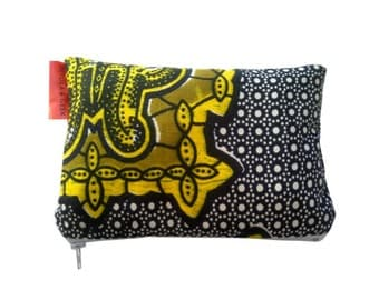 African Tribal Zipper Pouch, READY TO SHIP, Teachers gift idea, end of term, Make Up bag, Bohemian Afrocentric Fashion, Detola and Geek