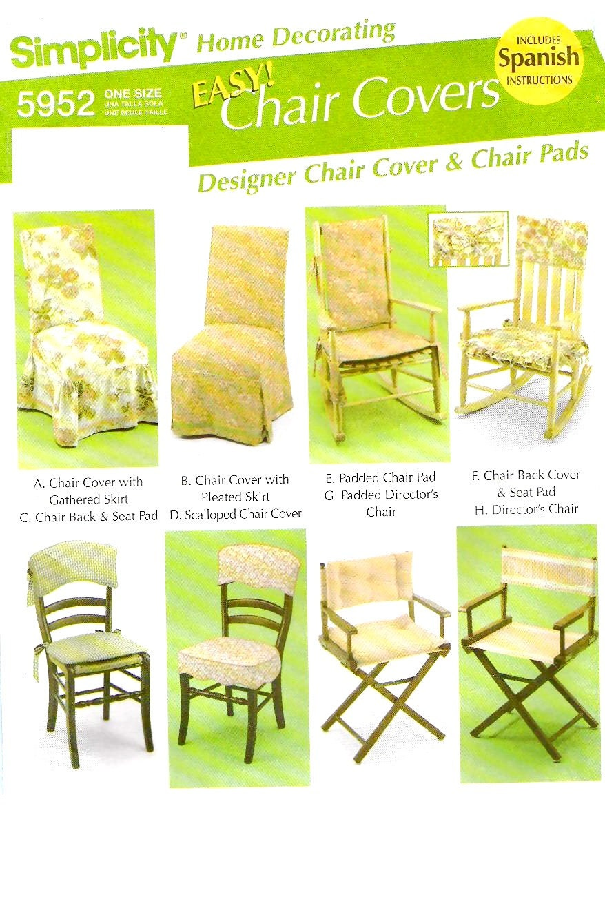 Easy chair covers sewing pattern very gently used simplicity for Furniture cover sewing patterns