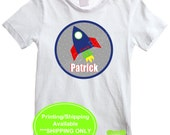 Personalized Rocket Ship Iron On - Rocket Iron On - Out of this World Iron On Transfer - Digital & Printed