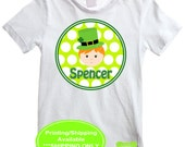 St. Patricks Day Iron On Transfer - Leprechaun Iron On - Personalized Iron On - Digital and Printed Available