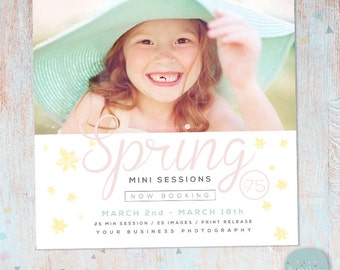 Spring Mini Session Marketing Board - Photoshop template - IE013 - INSTANT DOWNLOAD