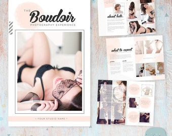 Boudoir Photography Magazine - 8 Page Template - Photoshop Template - PG017 - INSTANT DOWNLOAD