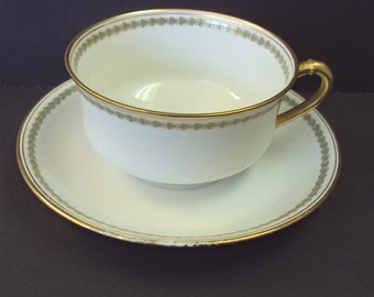 French Haviland Limoges Cup and Saucer