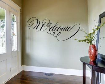 Welcome Wall Decal, Home Decor, Home and Living, Vinyl Wall Decal, Home Wall Decor, Living Room Decor, Decal Wall, Welcome Wall Sticker