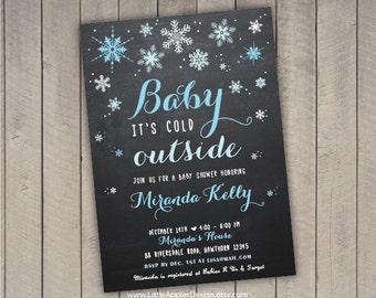 Winter Baby Shower Invitation / Winter Wonderland Invitation / Winter Baby  Invite / Winter Wonderland Baby