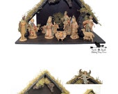 Nativity Set & Stable Vintage Fontanini 12 Piece Heirloom Manger Set Christmas Creche
