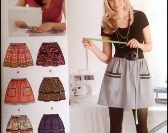 Simplicity 2286  Misses' Pull On Skirt with Trim Variations  Size (6-18)  UNCUT